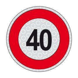 Disco adesivo limite di velocità 40 km/h