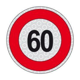 Disco adesivo limite di velocità 60 km/h