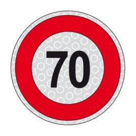Disco adesivo limite di velocità 70 km/h