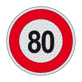 Disco adesivo limite di velocità 80 km/h
