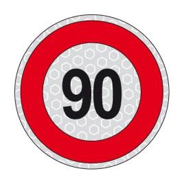 Disco adesivo limite di velocità 90 km/h