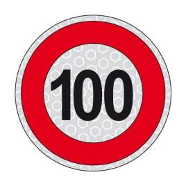 Disco adesivo limite di velocità 100 km/h
