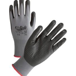 Paio di guanti in nylon, color grigio